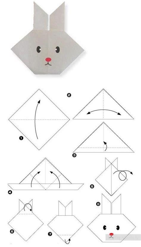 Origami Rabbit Easy - schritt f 252 r schritt anschaulich erkl 228 rt so falten sie ein