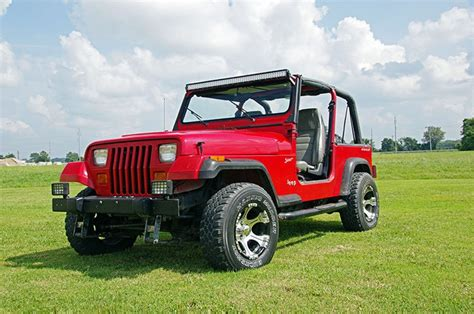 jeep yj lights 87 95 jeep yj 50in windshield led light bar