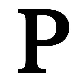 Wrought Iron Letter P P
