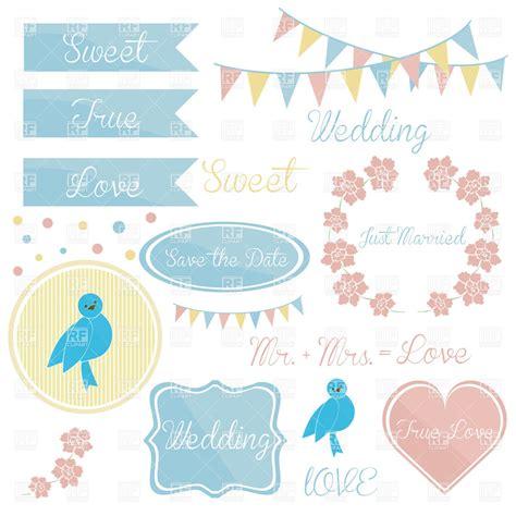 Wedding Banner Border by Wedding Invitation Elements Frames And Garlands