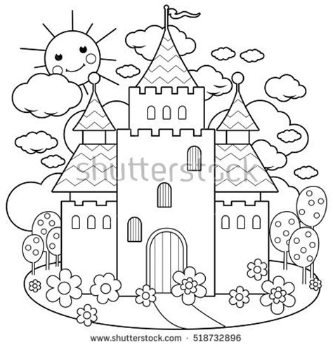 rainbow castle coloring page fairy clipart coloring page pencil and in color fairy