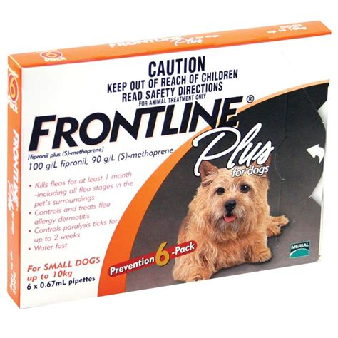 frontline for small dogs frontline plus for small dogs up to 10kg 6 pack epharmacy