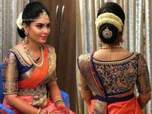 boat neck heavy blouse 20 beautiful pattu saree blouse for indian brides tbg