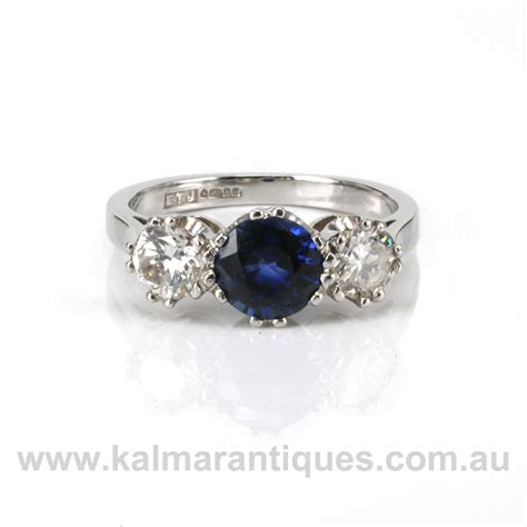 platinum sapphire and engagement ring