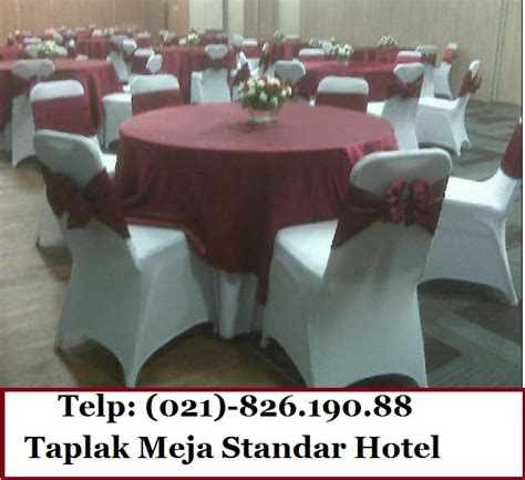 Taplak Meja Hotel pemesanan taplak meja hotel meja katering telp 021 8261