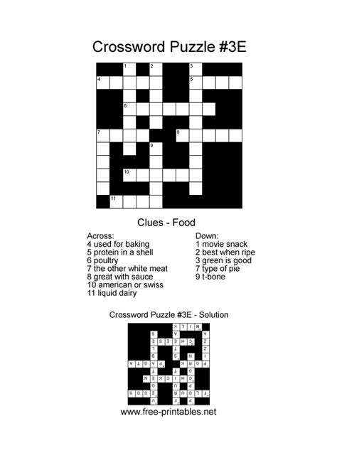 easy printable crossword easy crosswords free easy