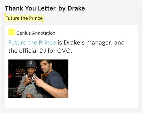 Thank You Letter Definition future the prince thank you letter lyrics meaning