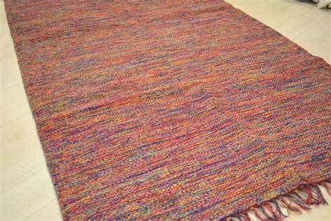 Patterned Rug by Cotton Patterned Rug Rainbow Chunky Weave Rugsite