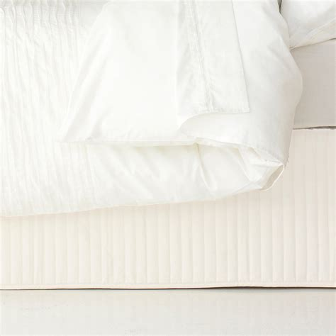 King Valance ardor classic quilted valance white king size s of kensington