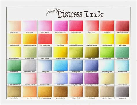 distress ink color chart getting organized your next st