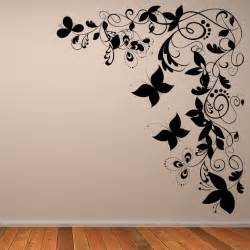 butterfly floral decorative corner wall art sticker transfers stickythings stickers south africa and