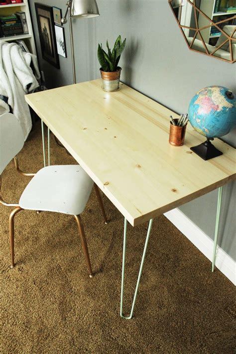Diy Desk Legs Diy Contemporary Hairpin Leg Desk