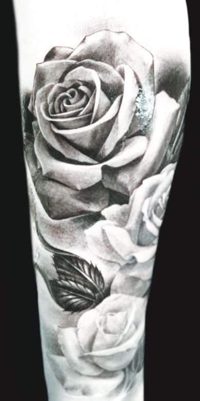 black and white tattoos for men flower tattoos for ideas and inspiration for guys