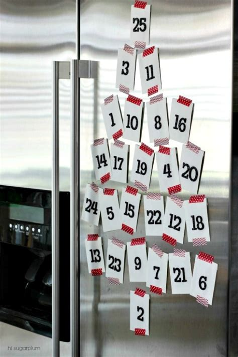 how do i make a countdown to calendar diy countdown advent calendar ideas