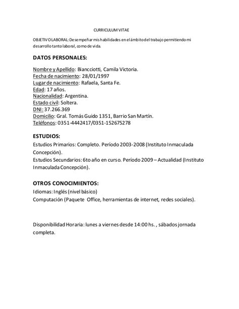 Modelo Carta Presentacion Curriculum Colegio Modelo De Curriculum Vitae Para Kinesiologos Modelo De Curriculum Vitae