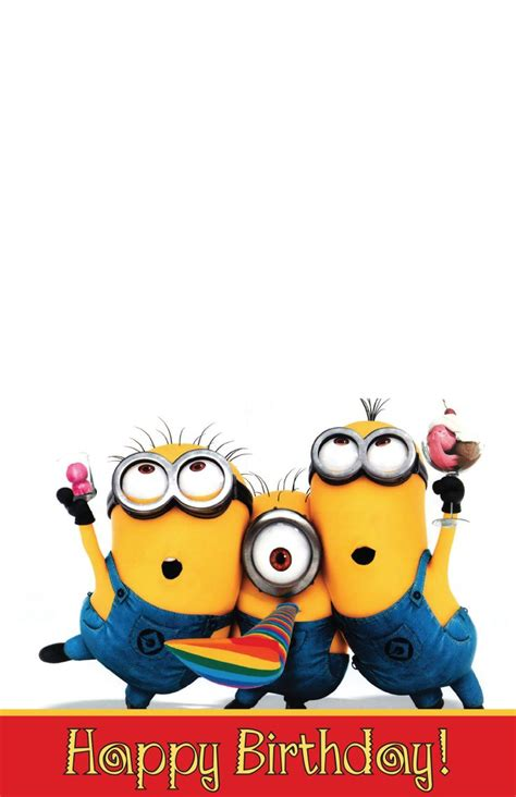 printable birthday cards minions free minion birthday card a 7 fold over to size 5 5 quot x 4