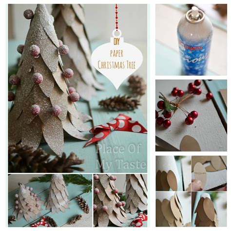 diy paper christmas tree craft pictures photos and