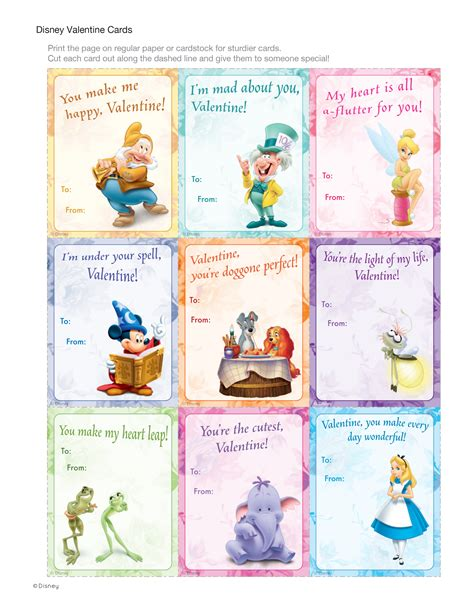 valentines card disney disney cards disney family