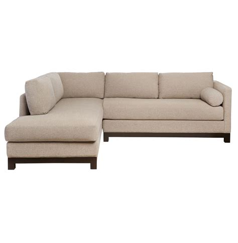 left facing sectional sofa cisco brothers cosmo modern natural linen sofa sectional