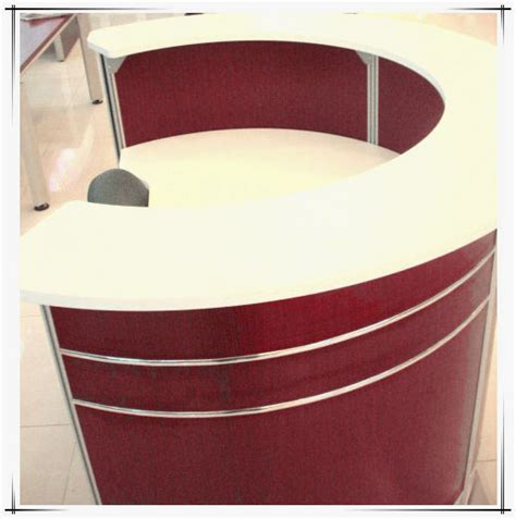 half reception desk wood sale counter table curved reception counter half