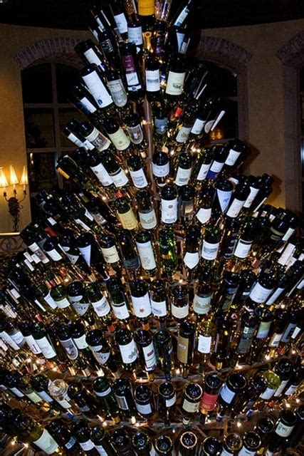 christmas tree made from wine bottles a few of the best wine bottle trees your wine