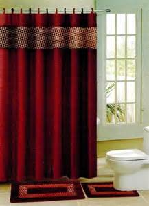 burgundy wine print fabric shower bathroom curtain