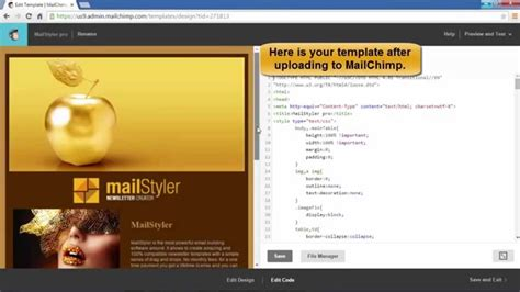 Mailstyler How To Import A Template In Mailchimp If Using Mailstyler Pro Youtube Mailchimp Import Template