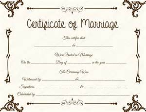marriage license template floral corner marriage certificate template dotxes