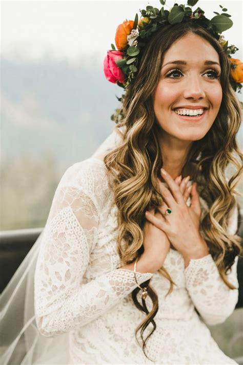 bohemian wedding hairstyles for hair 21 inspiring boho bridal hairstyles ideas to