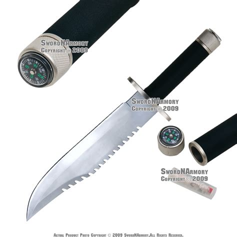 bowie knife kits 14 quot fixed blade combat bowie knife w survival
