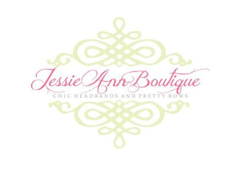 premade logo for photographers and small crafty boutiques shabby chic