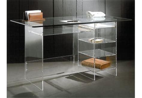bureau plexiglas bureau cyber un meuble transparent moderne