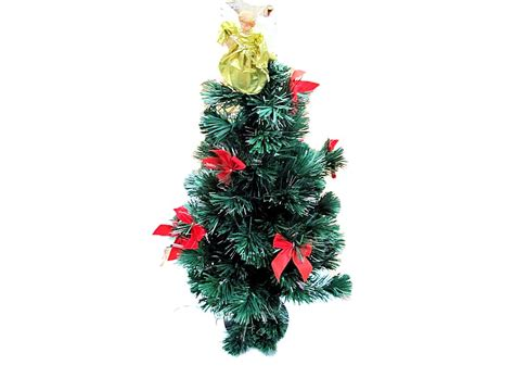 fiber optic christmas tree with angel 90cm w00993 buy at