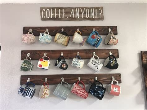 Hanging Coffee Mug Rack by Best 25 Coffee Mug Holder Ideas On Coffee Cup