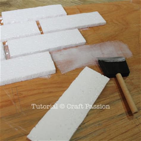 Faux Brick Wall Panel Diy Tutorial Craft Passion
