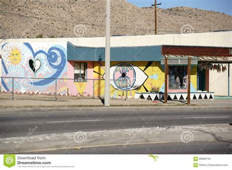 tattoo shops yucca valley brightly painted house facade in yucca valley editorial