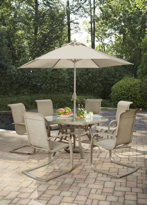 Jaclyn Smith Cora Dining Table With Lazy Susan Outdoor Smith Patio Table