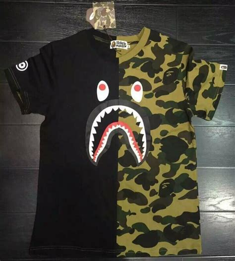 Bape Kaos Tshirt A Bathing Ape 23 s casual shark t shirt camo bape pattern costumes a bathing ape ebay