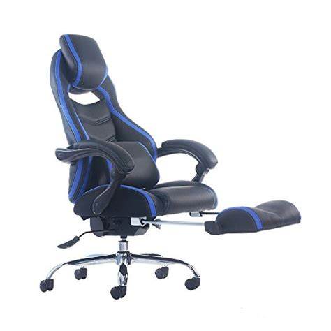 reclining cing chair with footrest video review merax racing style executive pu leather