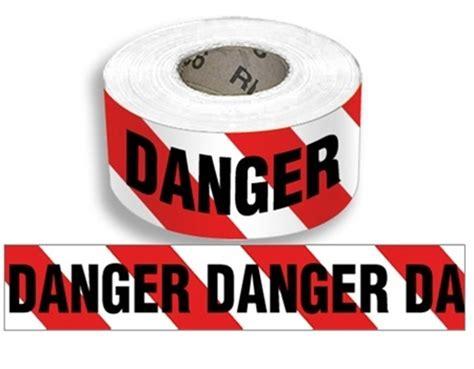 Danger White by Whit Striped Danger Barricade