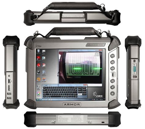 drs technology x10gx armor rugged tablet with station ebay