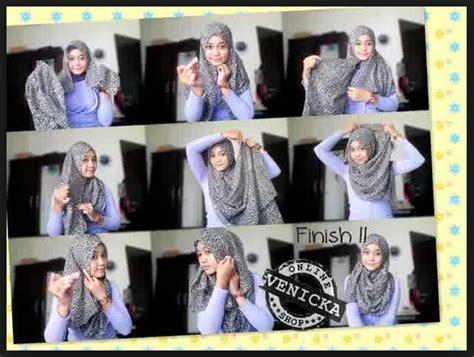 tutorial hijab casual 2015 gambar tutorial hijab modern casual
