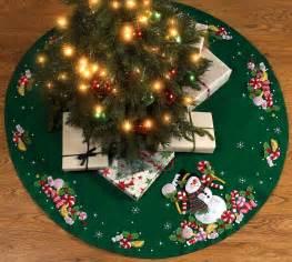 candy snowman 43 quot bucilla felt christmas tree skirt kit