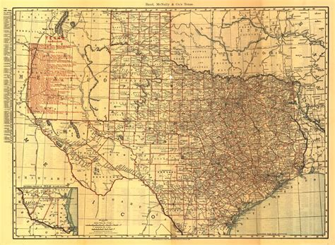 texas historical map 24x36 vintage reproduction railroad rail historic map texas 1900 ebay