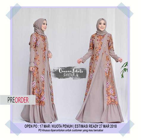 Catrina Set Pesta Terbaru Baju Muslim Wanita Original By Khadijah terbaru wa 08127 60 888 06 jual gamis pesta trend 2018 sheva dress vol 4 by queenalabels wa