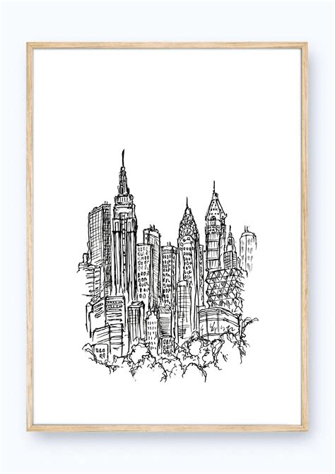 sketchbook new york minimalistic mess a4 new york sketch