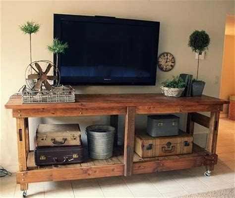 diy tv bench 38 wood pallet decorating ideas with creativity and fun