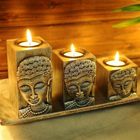 thailand buddha buddha zen wooden candle holder