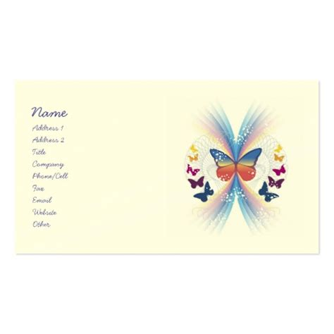 butterfly business card template mystic butterfly business cards zazzle