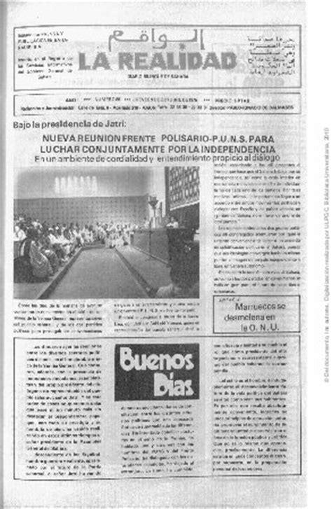 """""""La realidad, diario bilingüe de Sahara"""" (1975"""